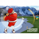 Golf Christmas card - Funny Christmas card - Card for husband - Express Delivery