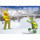 Golf Christmas card - Funny Christmas card - Card for boyfriend - All the gear