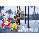 Golf Christmas card - 3 wood - Funny Christmas card - Funny card