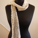 Handspun and Hand-knitted Scarf in North Ronaldsay Wool