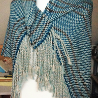 Alpaca and wool shawl
