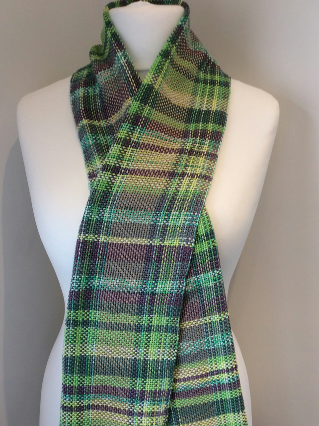 Cotton spring greens scarf