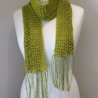 Lacey apple green lightweight scarf