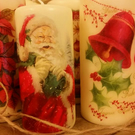 Beautiful Christmas Candles Decoration in Six Different Styles, Decoupage Christ