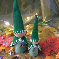 """Pitkin"" and ""Twiggy"" the Magical Elves."
