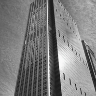 Chicago Skyscraper Photograph. 300 East Randolph Street in Black and White