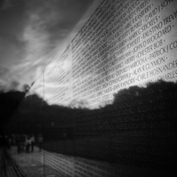 Washington Vietnam War Memorial - Photograph in Black and White