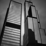 Chicago Skyscraper Photograph. Willis Tower in Black and White