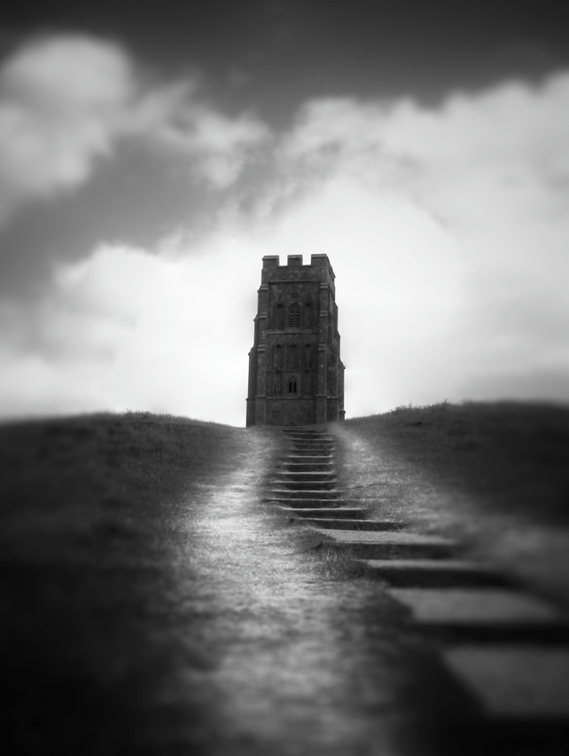 Glastonbury Tor, Somerset. Photographic Print in Black and White