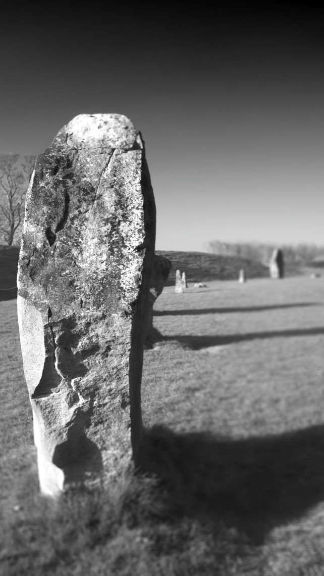 Avebury Stone Circle, Wiltshire. Photographic Print in Black and White