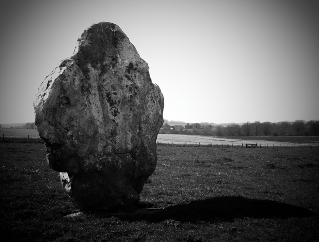 Avebury Stones. Photographic Print in Black and White