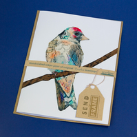 BIRDS goldfinch card featured 3D