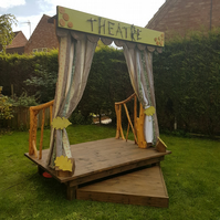Woodland play theatre stage