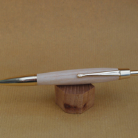Hand turned click style pen - Ash with Gold fittings