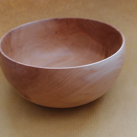 Small bowl in Apple wood and wax finish
