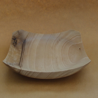 Square edged Idigbo wooden bowl.