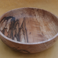 Large bowl in heavily spalted beech wood