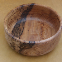 Medium sized bowl in heavily spalted beech wood