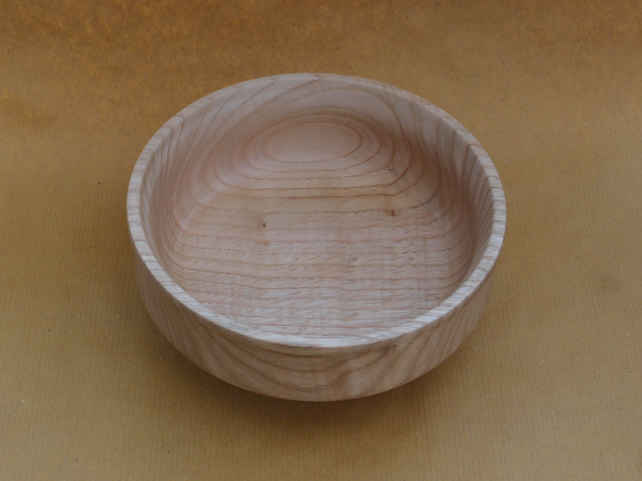 Medium sized bowl in Chestnut wood - raised foot design