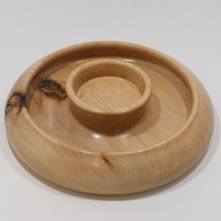 "Torus style candle holder in Beech. For candles up to 3"" dia."