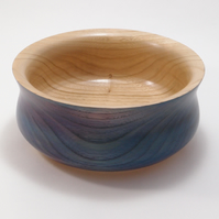 Medium sized coloured bowl in Chestnut wood