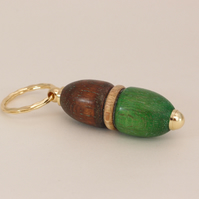 Double ended Acorn inspired keyring