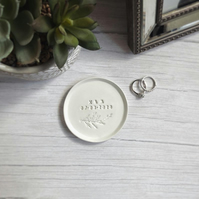 Personalised Foilage Ring Dish, Gift, Wedding gift, jewellery dish, anniversary
