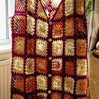 Colorful plus size crochet vest waistcoat