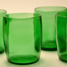 Xmas Gift Set- Recycled PERRIER bottle Tumblers set of 2