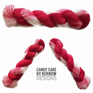 Candy Cane Hand Dyed Yarn