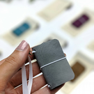 Grey Mini Journal - Mini Travelers Notebook for Journaling or Painting