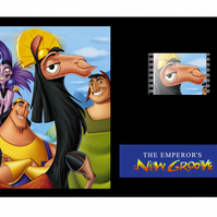 A Disney's Emperors New Groove mounted film cell display