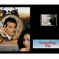 A Rare Groundhog Day Bill Murray film cell display