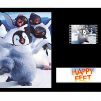 Happy feet rare mounted film cell display