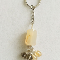 Gemstone Keyring or Bag Charm.