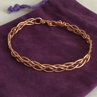 Rose Gold Wire Work Bangle, Unisex Bangle, Great Gift Idea.