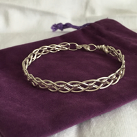 Stunning Silver Wire Work Bangle, Unisex Bangle, Great Gift Idea.