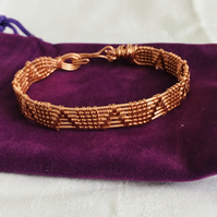 Unusual Wire work Bangle, Copper Bangle, Unisex Bangle, Great Gift Idea.