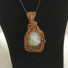 Unique Solar Quartz Pendant, Wire Weave Pendant, One of A Kind Pendant.
