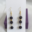 Beautiful Sage Amethyst Drop Earrings, Amethyst Earrings, Birthstone Jewellery.