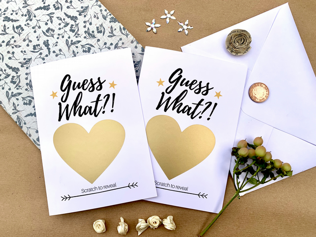 Guess What? Scratch and Reveal Card - Personalise with your message FREE UK POST