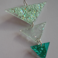 Three triangular piece pendant
