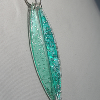 Two piece turquoise pendant.