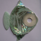 Pale green and silver hanging fish ornament