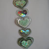 Five heart hanging ornament