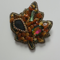 Maple-Leaf colorful,Baltic Amber brooch