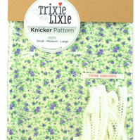 Make your own knickers Trixie Lixie knicker kit Retro Floral fabric