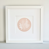 Botanical Leaves - Mini Lino Print - Original Art