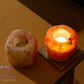 Elegant Himalayan Crystal Rock Salt Candle-tealight Holders Pack of 2
