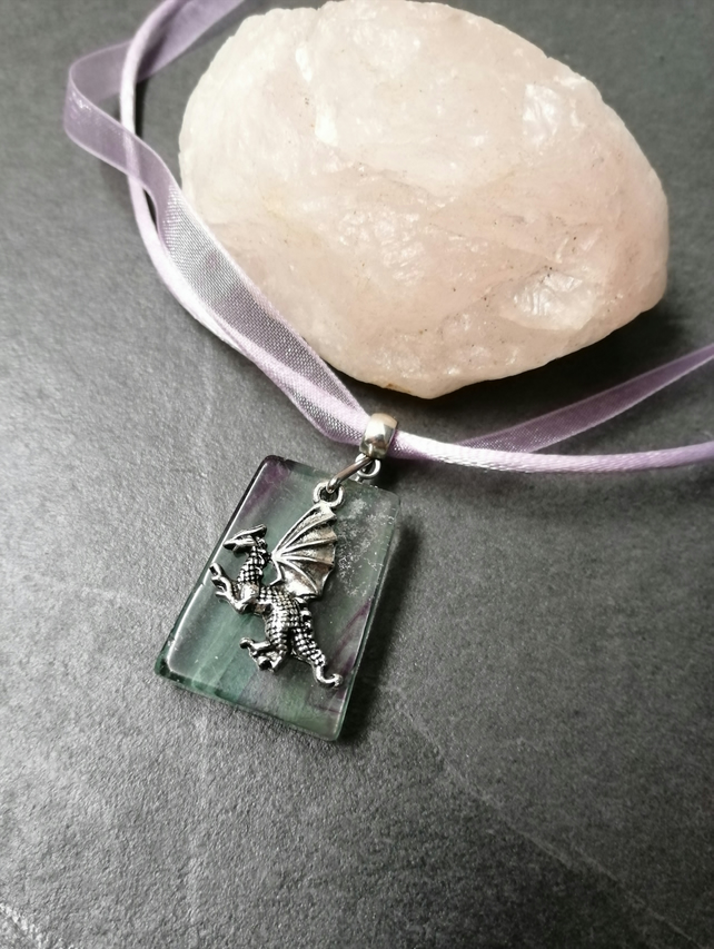 Perfect Fluorite Dragon Necklace
